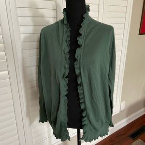 VS Moda International Lightweight Ruffle Cardi